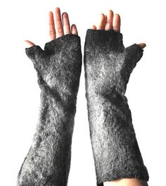 Wolf gloves, warm hand felted animal fingerless cuffs for fancy dress costume accessory in black and natural greys Wolf Ears, Wolf Costume, Blue Merle, Lace Scarf, Handmade Felt, Wet Felting, Felt Animals, Costume Accessories, Snug Fit