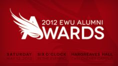 Our EWU alumni community is more than 80,000 strong – building with each graduating class. It is in our nature as Eagles, to take flight and to soar high. The 2012 EWU Alumni Awards is a moment to recognize those who lead us and inspire us to great heights.       Awards will be presented for: Lifetime Achievement, Inspirational Young Alumnus, Alumnus of Service, Exceptional Military Service, Distinguished Faculty and Organization of Excellence.