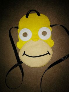 Homer Simpson Mask Felt Handmade NEW
