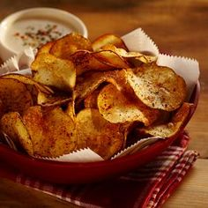 Best Homemade Barbecue Potato Chips: Superbowl snack food