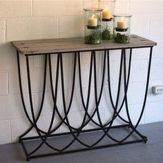 Iron Console Table With Wood Top