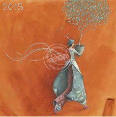"""Calendrier 2015 16x16 Gaelle Boissonnard """"L'arbre offert"""""""