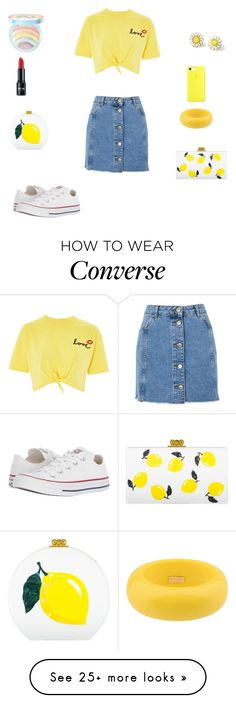 """SPRING!!!!"" by kaydance2088 on Polyvore featuring Topshop, Converse, Dsquared2, Too Faced Cosmetics, Edie Parker and spring2018"