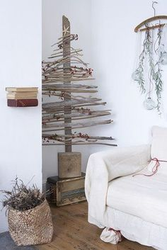 Sapin de Noel en bois flotté