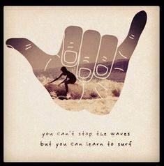 You can't stop the the waves but you can learn to surf. (rock on)
