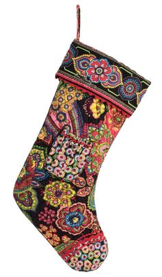 Vera Bradley Christmas Stocking in Symphony in Hue. How cute would that look on your mantle. Fill it with all your stocking stuffers.