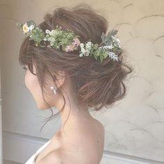 Hair Arrange, Hair Ornaments, Green Wedding, Hair Day, Bridal Hair, Wedding Hairstyles, Lace Dress, Hair Makeup, Hair Beauty