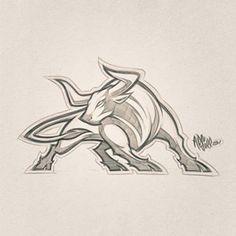Image may contain: drawing Bull Tattoos, Taurus Tattoos, Body Art Tattoos, Animal Sketches, Animal Drawings, Art Sketches, Cartoon Drawings, Cartoon Art, Art Drawings