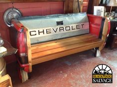 Bench, Mikes Chevy Tailgate from Black Dog Salvage