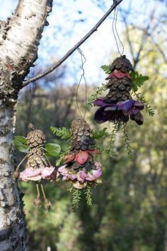Beautiful pine cone fairies. Gloucestershire Resource Centre http://www.grcltd.org/home-resource-centre/