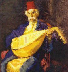 Iosif Iser - Barbu the lute player (Barbu Lautaru) Orientalist Art Contemporary Paintings, Art Nouveau, Fine Art, Artist, Painters, Musicians, Collections, Pocket, Facebook