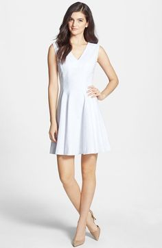 2857f69037a Chelsea28 Jacquard V-Neck Fit  amp  Flare Dress available at  Nordstrom Fit  Flare