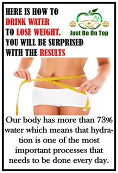 Maybe this will sound quite impossible to you, but you can lose weight with drinking water. Our body has more than 73% water which means that hydration is one of the most important processes that needs to be done every day.