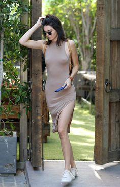 August 05, 2016. - Leaving The Villa Restaurant of... Kendall Nicole Jenner Fashion Style