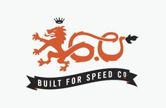 The graphic depicts speed very well with the elongated tail; as the slogan would suggest. The slogan has nice contrast against the dark banner, and the color palette works very well together.