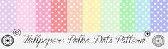 Morandi Sisters Microworld: Printable Wallpapers - Polka Dots - Carte da parat...