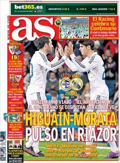 Los Titulares y Portadas de Noticias Destacadas Españolas del 23 de Febrero de 2013 del Diario Deportivo AS ¿Que le parecio esta Portada de este Diario Español?