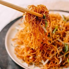Pan Fried Noodles, Fried Noodles Recipe, Wonton Noodles, Stir Fry Noodles, Vegetable Ramen, Vegetable Lo Mein, Easy Chinese Recipes, Asian Recipes, Ethnic Recipes
