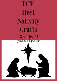 A round-up of many Nativity crafts that you can make with your kids or grandchildren. 35 wonderful ideas to hang on your tree or give as gifts. Christmas Trees For Kids, Christmas Craft Projects, Holiday Crafts For Kids, Christmas Crafts For Kids, Holiday Fun, Christmas Favors, Christmas Room, Kid Crafts, Festive