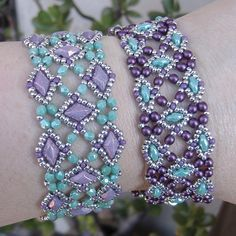 Labyrinth Bracelet beaded pattern tutorial by Deb Roberti