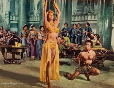 Rhonda Fleming - The Queen of Babylon - 8 X 11 - top quality image - (reprint). Rhonda Fleming, Babylon The Great, Hunter Gatherer, Queen, Film Music Books, Famous Women, Cleopatra, Fashion Art, Pop Culture
