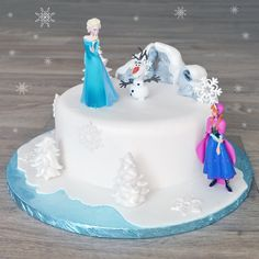 """<p><span style=""""font-size: small;"""">This celebration cake is perfect for fans of Disney's Frozen. Featuring official Frozen cake toppers and some easy to make decorations it is simple to create this beautiful cake!</span><span><br /></span></p>"""