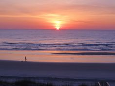 Sunrise with Man & Dog   |  Crescent Beach, Florida, 27 May 2013
