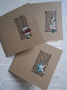 Jo Firth-Young Christmas cards, text box with 3D item