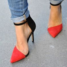 Red hot heels. #ebayfashion