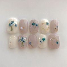 Wedding Nails-A Guide To The Perfect Manicure – NaiLovely Bride Nails, Wedding Nails, Cute Acrylic Nails, Cute Nails, Oil Cleansing, Korean Nail Art, Kawaii Nails, Japanese Nail Art, Flower Nail Art