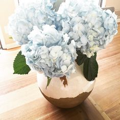 A burst of blue hydrangeas in one of our Tuscan Urns is just what we needed to brighten up a Tuesday afternoon. (via @tabithagrace21)