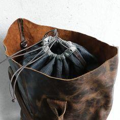 Leather Casual Women Brown Handbag
