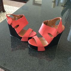 Wedge Salmon color wedge! Charlotte Russe Shoes Wedges