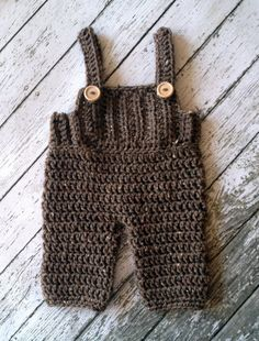 Crochet Baby Overalls Pants with Suspenders by mamamegsyarnshoppe, $32.00
