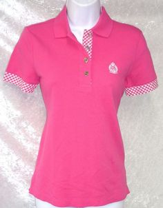 f2e8b89c Ralph Lauren Active Womens Polo Shirt Solid Plaid Short Sleeve size PXS XS  NEW 24.99 free