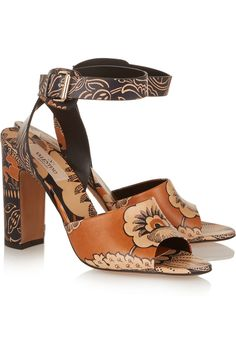 VALENTINO Covered printed leather sandals