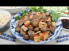 Braised Tofu and Mushrooms (Dau Hu Kho Nam)