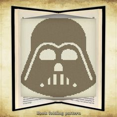 Book folding pattern Darth Vader for 261 folds - ID0000265