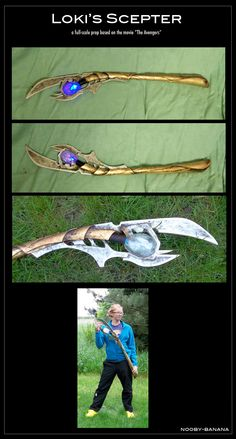 Loki's Scepter - I know I will probably never make anything like this for the wall, but it is just too cool of a design.