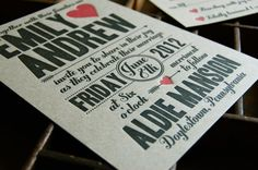 Cupid Letterpress Wedding Invitation