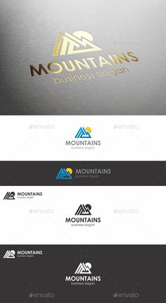 Mountains Peak Logo Template Vector EPS, AI & CDR. Download here: http://graphicriver.net/item/mountains-peak-logo/13541413?ref=ksioks