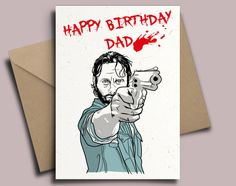 The Walking Dead Zombie Arm Personalised Birthday Card with Negan Badge Option