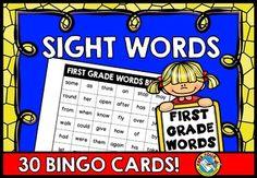 #SIGHT #WORDS #BINGO: #DOLCH #FIRST #GRADE #WORDS