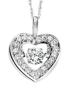Show your love, with this diamond heart pendant exclusively by 'The Rhythm of Love' jewelry collection... #RhythmofLove #finejewelry #diamonds #janesjewelers