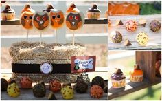 Halloween or Harvest party table Owl Parties, Fall Birthday Parties, Thanksgiving Parties, Thanksgiving Ideas, Birthday Ideas, Dessert Party, Party Desserts, Dessert Table, Halloween Motto