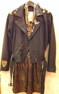 Army leather jacket!