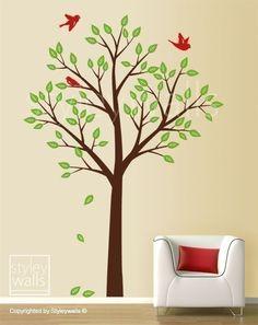 Tree and Birds  Nursery Kids Vinyl Wall Decal by styleywalls, $89.00