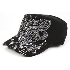 RHINESTONE BAND Cadet Cap...I need this with 'band mom' on it. ;)