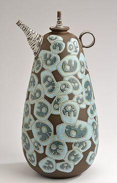 Blue Sculptural Teapot: Boyan Moskov