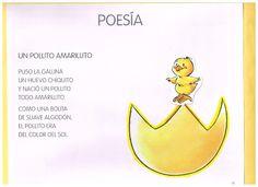 El Blog de Marybel: LIBRITO DEL COLOR AMARILLO Poetry Poem, Teaching Spanish, Pre School, Winnie The Pooh, Baby Shower, Education, Blog, Miraculous, Spring Time